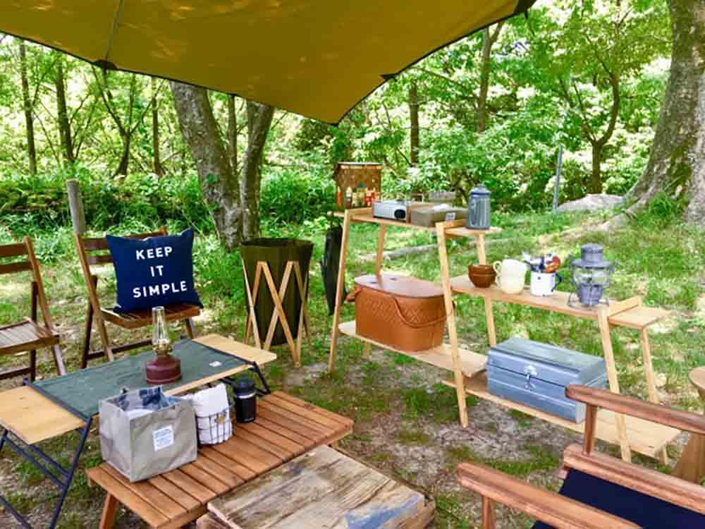 庭 キャンプ